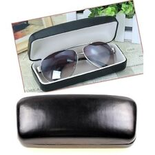 PU LEATHER HARD EYE GLASSES CASE SUNGLASSES STORAGE PROTECTOR BOX CLAM SHELL NEW