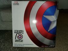 Marvel Legends Metal Captain America Shield 75th Anniversary NEW US AUTHENTIC