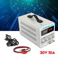 30v 10a Adjustable Dc Power Supply Precision Variable Dual Digital Lab Test U9