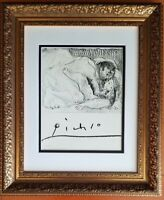 PABLO PICASSO ORIGINAL 1971 SIGNED PRINT MATTED 11 X 14 + MAKE YOUR OFFER !!