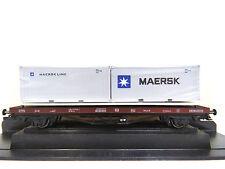 Tragwagen Lgs mit MAERSK-Containern, DB,Ep.V,TT,1:120,PSK Modelbouw,1763,NEU,OVP
