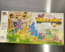 Vintage 1985 Disney Wuzzles Board Game 3D Mountain Milton Bradley COMPLETE