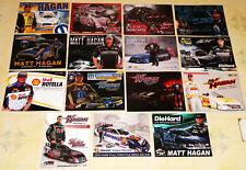 """15"" DIFFERENT ""MATT HAGAN"" TOP FUEL FUNNY CAR DRAG RACING HANDOUTS IN VG COND!!"