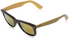 Authentic RAY-BAN Wayfarer 2140 - 117393 Sunglasses Black Gold  *NEW* 50mm