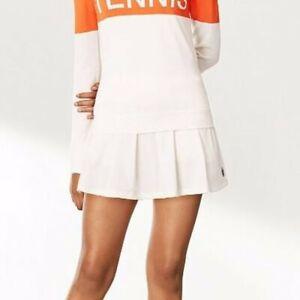 Tory Burch Sport Pleated White Tennis Skirt Skort Built In Shorts SZ M