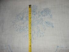VINTAGE NEW EMBROIDERY LINEN CREAM CHAIR BACKS FLOWERS PANELS TRANSFER FLOWERS