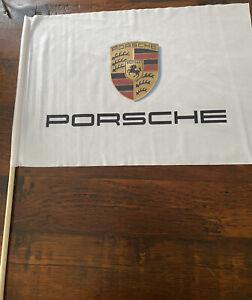 """Brand-new Porsche Flag Banner White 13.5"""" X 19"""""""