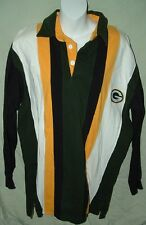 Game Day 7 Logo Green Bay Packer Mens Long Sleeve Rugby Shirt size M 100% cotton