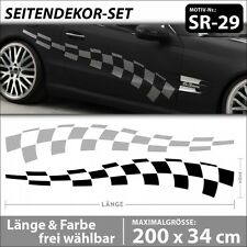 Racing Flag Autoaufkleber Rennsport Decal Car Tattoo Styling . SR-29