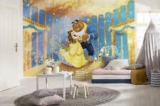 Giant Wall mural Wallpaper Beauty and the Beast disney chlildrens room DECOR