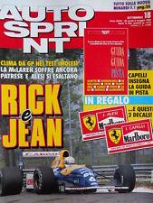 Autosprint n°18 1992 Riccardo Patrese Jean Alesi -  Minardi in F1  [P10]
