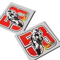 Marco Simoncelli 58 Moto Gp `Art `Sticker Motorrad Aufkleber X 2