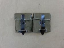 Wehrmacht g43/k43 Canvas/cuir MAGAZINE poche textile kaki