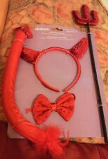 Red devil dressing up set - halloween. Fancy dress. Bnip.