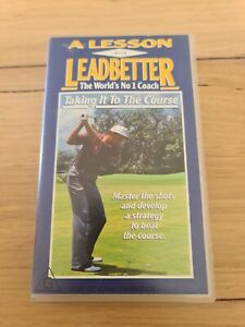 A Lesson With Leadbetter VHS Taking It To The Course Golf Instructional Video