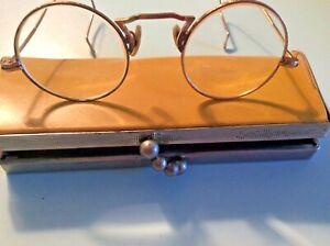 VINTAGE GOLD FILLED AO Frames & case READING GLASSES EARLY 1900'S