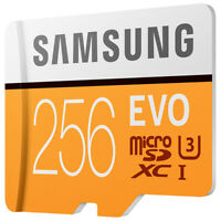 Samsung 256GB  U3 TF Card Micro SD Card EVO Class 10 Phone Memory Card