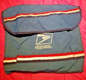 Genuine USPS Mail Carrier Satchel Messenger Bag with Leather Strap