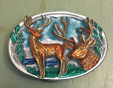 MULE DEER BELT BUCKLE APPROXIMATELY 2 3/4 X 1 7/8