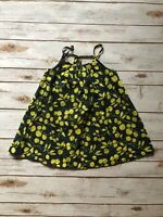 Baby Gap girls Yellow Floral Dress Strappy Back Size 3