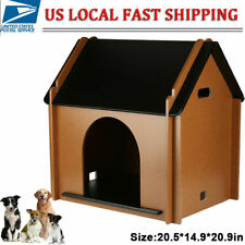 Foldable Mdf Dog Cat House Pet Puppy Shelter Waterproof Indoor/Outdoor Ventilate