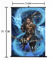 "Hot Japan Anime Overwatch Hanzo Home Decor Poster Wall Scroll 8""x12"" 01"