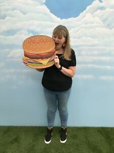 Giant MDF Cheese Burger Retro Food Party Cafe Prop Party Restaurant