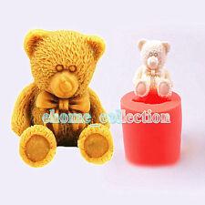 3D Teddy Bear Fondant Silicone Mold Sugar Craft Cake Decorating Tools Baking Diy