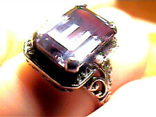 RING 6.5 STERLING 925 SILVER RUSSIAN ALEXANDRITE GREAT COLOR CHANGE EMERALD CUT