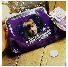 Celebrity Coin Bag Make Up Pouch Change Purse Clutch Wallet Justine Bieber