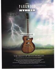 2007 PARKWOOD Hybrid  Electric Guitar Vtg Print Ad