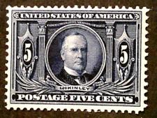 U S stamps Scott 325 five cent Louisiana purchase mint cv 180.00