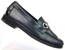 Sebago Black Leather Horsebit Loafer Moc Shoes 766072 Men's 7.5 D