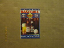 MLB Chicago Cubs & White Sox Vintage Circa 1987 Logo Baseball Pocket Schedule