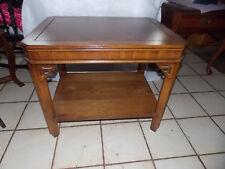 Oak Book Match Veneer End Table / Side Table by Lane  (T756)