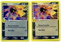 Lileep 68/110 Reverse Holo EX Holon Phantoms Stamped + Lileep 68/110 NM+