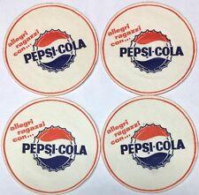 Lot of 4 Pepsi Coasters Unused Italian Cola Sign Advertising Vintage