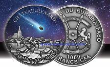 2016 Burkina Faso, Chateau Renard Meteorite, 1oz, 1000 Francs Silver