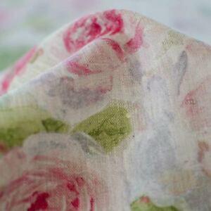 Toile de Lin imprimé de Roses (Dernières pièces - Fin de série)