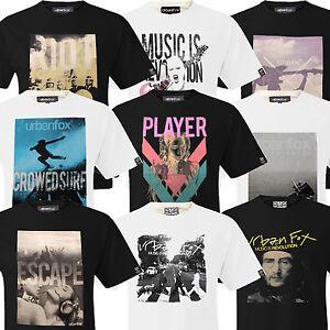Mens T Shirt Slim Fit Urban Fox Short Sleeve Tee Music Culture New