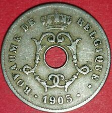 1905 Belgium 10 Centimes Coin   ID #79A-5