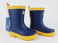 Hatley Rain Boots Navy and Yellow Matte Children's Size 7