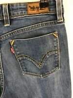 Levis 627 Blue Stoned Washed Straight Fit Denim Jeans Size W28 x L32 Fast Ship