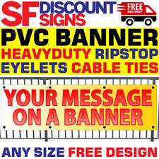 PVC Vinyl Banner - Custom Printed Outdoor Sign Restaurant Cafe Lockdown Takeaway