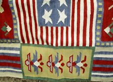MAGNIFICENT WOOL RUG Made for New Hampshire Historical society 5X6