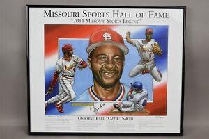 Dayne Dudley Signed Art Litho Ozzie Smith Autograph Cardinals Baseball 6/200