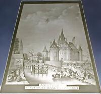 99840200 Porzellan Bild Lithophanie-Platte Amsterdam Plaue Schierholz