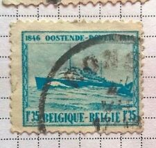 Belgium stamps - Oostende-Dover 1846-1946 1,35F - FREE P & P