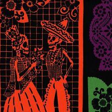 Mi Vida en Papel FOLKLORICO Alexander Henry MEXICAN FOLK ART Fabric FQ Black MOD