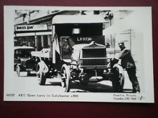 POSTCARD  AEC OPEN LORRY IN COLCHESTER C1921